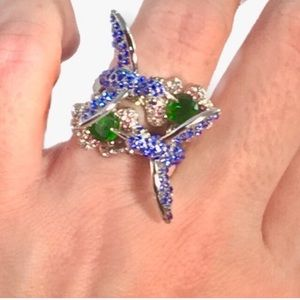 New Hummingbird ring Sterling Silver size 7